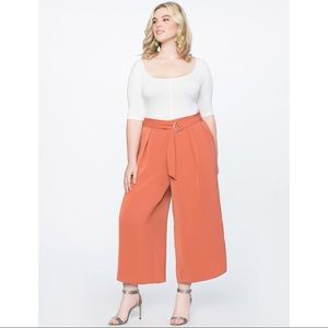 ELOQUII Wide Leg Culotte Pant with Belt